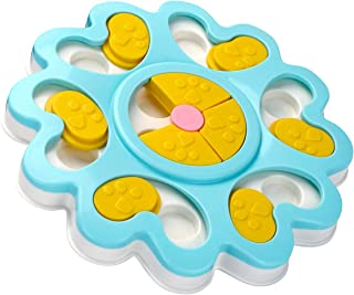 XUANRUS Dog Puzzle Toys-Puppy Treat Dispenser Dog Toys with Non-Slip/Increase IQ/Interactive Flower Slow Dispensing Feeding Pet Dog Training Games Feeder for Mini Dog Puppies