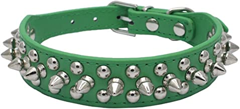 Avenpets Gorgeous Design Leather Dog Collar with Spikes and Studs for Daily Activities