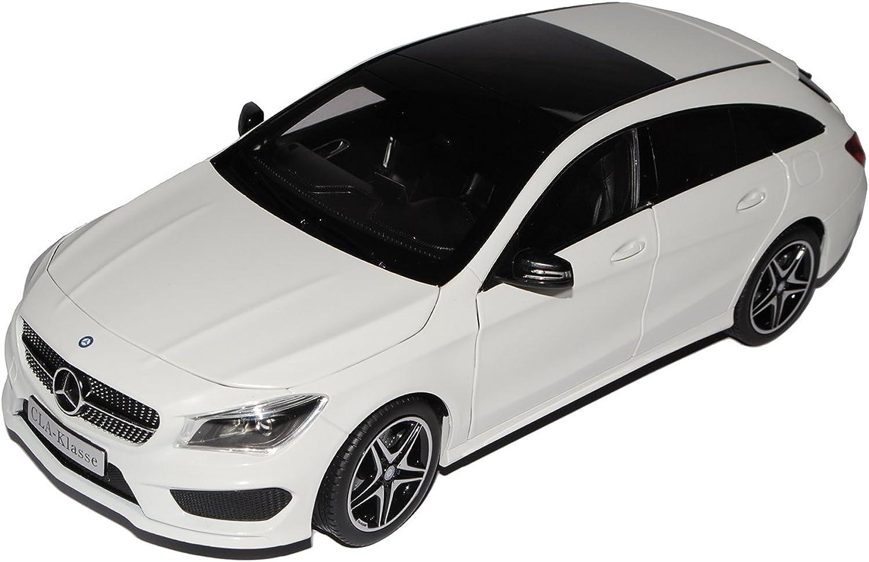 Norev Mercedes-Benz CLA Shooting Brake X117 Zirrus Weiss Kombi Ab 2014 1 18 Modell Auto mit individiuellem Wunschkennzeichen