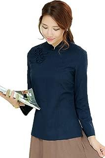 Chinese Oriental Long Sleeve Tang Qipao Top Blouse