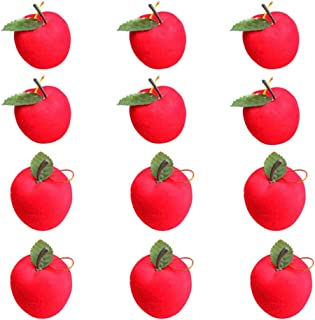 ruiycltd 12Pcs Christmas Apple Hanging Ornaments Xmas Tree Window Showcase Party Decor - Red