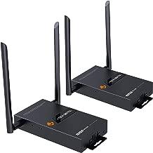 J-Tech Digital HDbitT Series 1X2 Wireless HDMI Extender Dual Antenna Ultra HD 4K@60Hz HDCP2.2 with IR Repeating 660ft Transmitter & Receiver Set [JTECH-WEX-4K60]