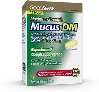 GoodSense Maximum Strength Mucus DM Expectorant and Cough Suppressant, Contains Guaifenesin and Dextromethorphan HBr