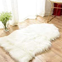 SKEIDO Soft Faux Sheepskin Fur Rug Soft Fluffy Carpets Chair Couch Cover Seat Area Rugs for Bedroom Sofa Floor Living Room...