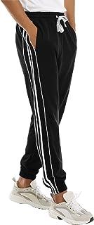 Hawiton Pantaloni Sportivi da Uomo, Pantaloni Casual da Allenamento 100% Cotone, Pantaloni con Riga Laterale, per la Corsa...