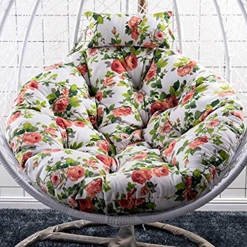 Chaise suspendue extérieure Chshion, coussin de chaise longue en forme de hamac, matelas de coussin de siège pivotant, coussin de chaise longue de terrasse de véranda pour balcon, tapis N 120 cm de d