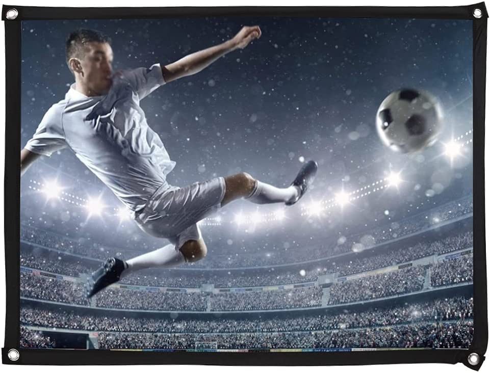 Projection Screen,4:3 Foldable Portable Projector Movies Screen,40/60/72/84/100 in Optional,Polyester White Soft Projector Curtain,for Home Theater Outdoor Indoor(84 in)