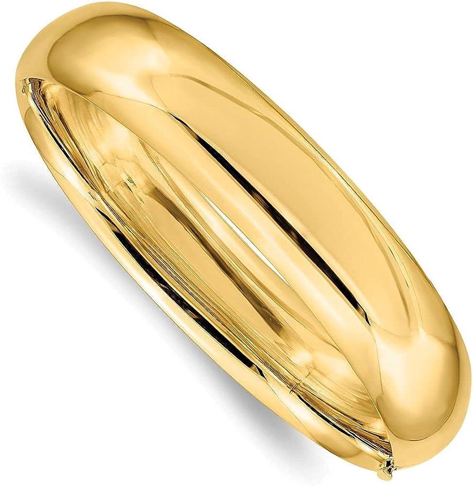 Jewelry-14k 9/16 Oversize High Polished Hinged Bangle Bracelet