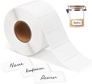 8.9X3.6cm Étiquettes d'adresse, Etiquettes Autocollantes Blanches Étiquette Adhésive Etiquettes Congelées multifonctions b...