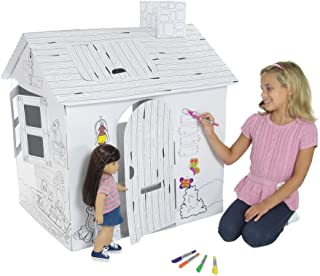 Emily Rose Incredible Dollhouse or Kid's Play House, Ready to Paint and Decorate | Great Party Activity! (Safari House)