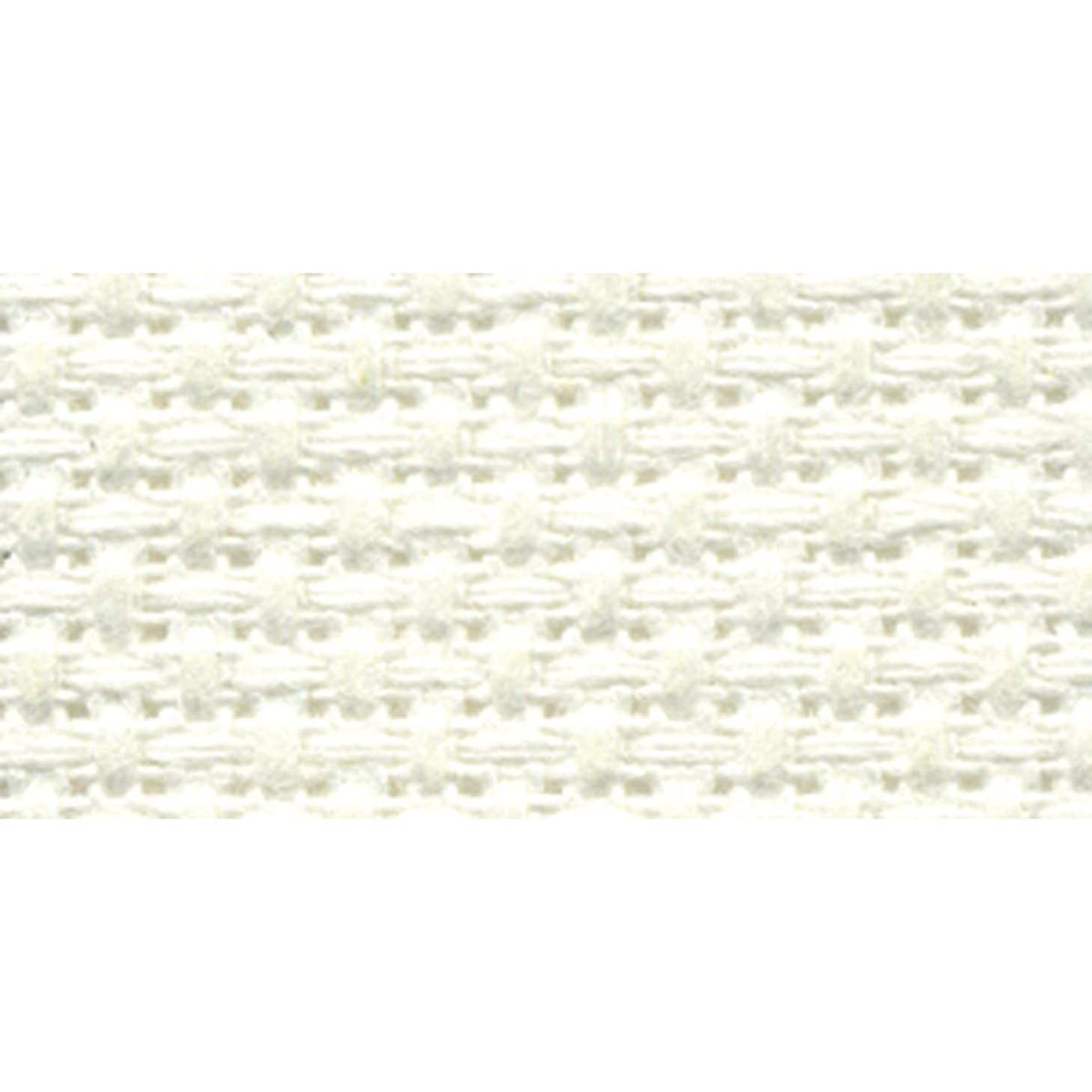 DMC TC8136-0322 Silver Label Aida Cloth with Soft Tube, Antique White, 15 by 18-Inch, 11-Count