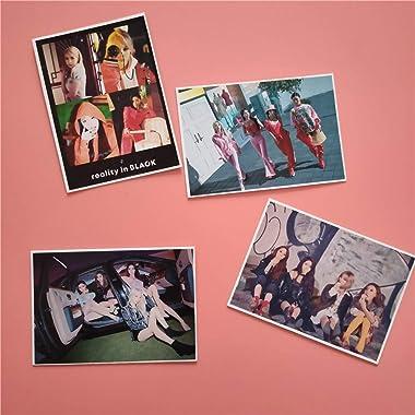 16 pièces / ensemble Kpop MAMAMOO photocard pour collection de fans album photo réalité en carte noire Kpop mamamoo fournitur