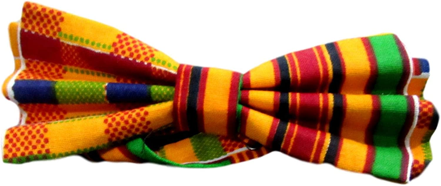 Kente Bow Tie Bowtie 2 African National uniform free shipping Pri Men for Max 58% OFF