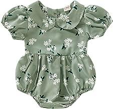 Tronet Onesies Baby boy/Girl Infant Newborn Baby Girls Print Bodysuit Rompers Peter Pan Collar Clothes