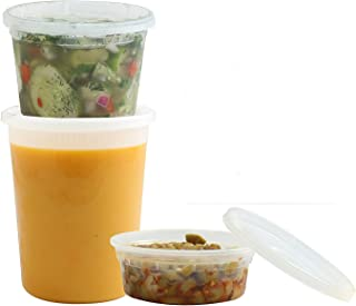 Food Storage Containers with Lids | Foodsavers Deli Containers, Microwave Temperature Resilient, Leak Proof & Reusable - S...