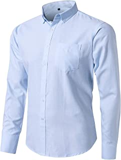 mens long sleeve button down collar shirts