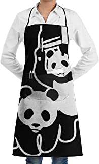 Guiwangli Funny Parody of WWF Unisex Aprons for Women Men Chef Apron for Cooking Apron Pockets