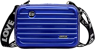 Loosnow Women Mini Storage Box Cosmetic Case, Hard Suitcase Wristlet Crossbody Handbag for Girls