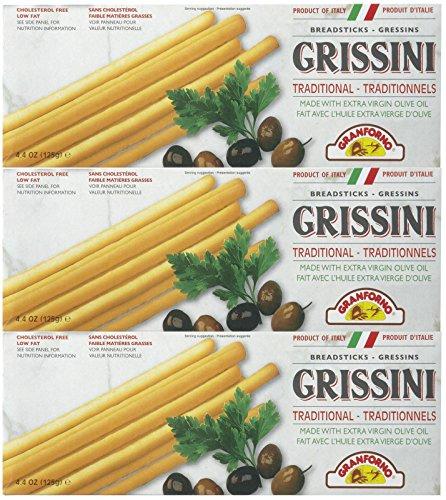 Granforno Grissini Breadsticks, Plain, 4.4 oz Boxes, 3 pk