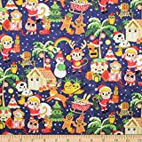 Trans-Pacific Textiles 0668476 Christmas in Hawaii Navy
