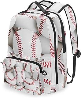 Mochila con Bolsa Cruzada Desmontable, Juego de béisbol para Ordenador, Mochila, Bolsa de Libro, para Viajes, Senderismo, Camping