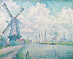 シニャック,オーヴェルシーの運河,1906年