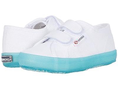 Superga Kids 2750 Jellygum Cotbumpj (Toddler/Little Kid) (White/Light Blue) Kid
