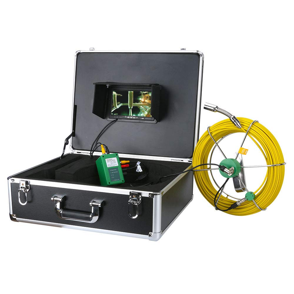 AMOCAM Max 64% OFF Pipe Pipeline Inspection Camera Pi Drain Free shipping / New 40M Snake 132ft
