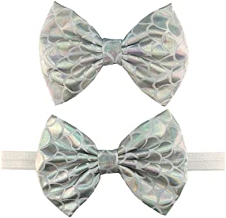 Starfish Bow Headband Hair Clips Pin Hair Bow Band Baby Girls Mermaid Headband JBC27
