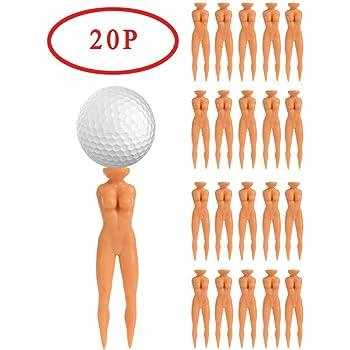 "Golf Tees 3"" Nude Woman Plastic Golf Tees, Golf Sexy Girl Lady Tees Fun Holder Divot Home Golf Training"
