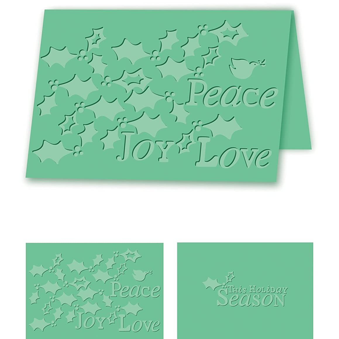 Craftwell USA Holiday Holly Embossing Folder, 8.27 by 11.69-Inch
