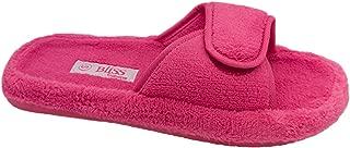 Bliss Ladies Slippers Val Fuchsia Size Medium 7-8 Adhesive Tab