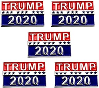 Best 5Pcs Trump 2020 Mini Politics Election Pins Republican Campaign Political Brooch pin America President Badge Jewelry Gift 30x20mm Review