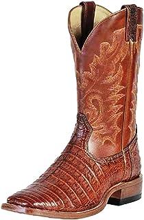 American Boots - Cowboy Exotic (Alligator) BO-8500-65-E (Normal Walking) - Men - Brown