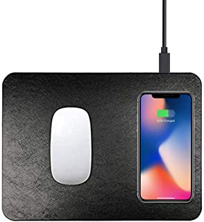 Trands Multi-function Wireless Charging Mouse Pad Desktop Wireless Charger Mobile Phone Wireless Charger for iPhone,Samsung, Huawei Smartphones