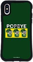 iPhone X ケース iPhone XS ケース どこでもくっつくケース WAYLLY(ウェイリー) アイフォンXケース アイフォンXSケース 着せ替え 耐衝撃 米軍MIL規格 [WAYLLY × ポパイ グリーン] セット MK