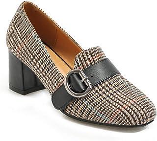 BalaMasa Womens APL11825 Elastic Block Heels