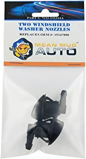 Mean Mug Auto 7133-232314A (Two) Front Windshield Washer Nozzles - For: Chevrolet (Chevy), Pontiac, Saturn - Replaces OEM #: 15247800