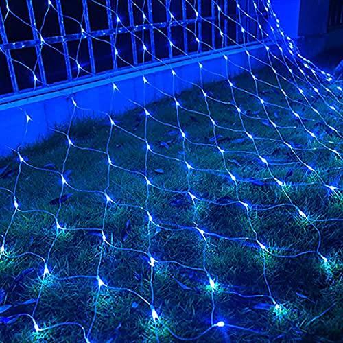 Luces de red de Halloween, solar al aire libre luces netas ,DIRIGIÓ Solar a prueba de agua Luz de Navidad, las luces del jardín de fiesta de la boda decoración de la pared Yard, 8 modos y 4 niveles de