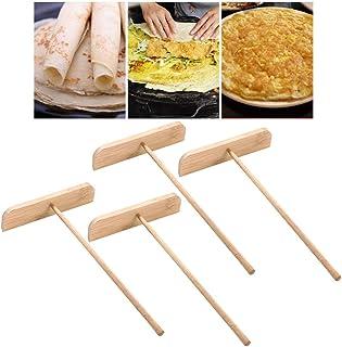 Cabilock 4 st trä crepe trogna pannkakor deg trogen deg crepe pan maker pannkakor matlagning redskap för hem restaurang