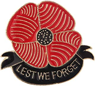 YAVONA Red Lest We Forget Poppy Brooches for Women Soldier Remembrance Day Gifts Broach pins Jewelry