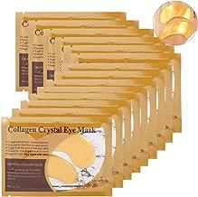 Collagen Eye Mask,50 x Pair Crystal Moisture Gel Patch Pad, Anti Wrinkle, Remove Bags, Dark Circles, Whitening,Regeneration Of Skin (Gold)
