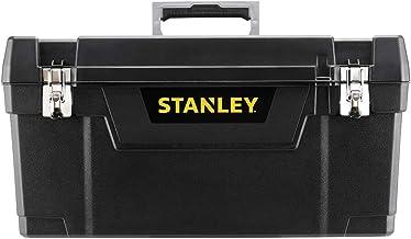 Stanley 1-94-859 Metalen gereedschapskist, 25 inch, rubberen metalen sluitingen, ergonomische comfortabele handgreep, orga...