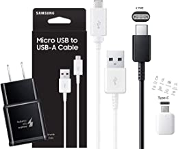 Official Samsung Fast Wall Charger with C Type - Micro USB Cable Retail Packing C OTG Adapter -for Galaxy S6/S7/S8/S9/S10/Edge +/Note5/Note8/9