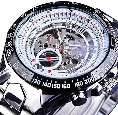CMXUHUI De moda y elegante, aspecto exquisito, un g reloj de pulsera mecánico de diseño deportivo bisel dorado reloj para hombre Watchesclock hombres reloj automático esqueleto reloj 21cm
