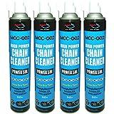 AZ(エーゼット) MCC-002 バイク用 チェーンクリーナー パワーゾル スプレー 840ml ×4本セット チェーンクリーナー/チェーン洗剤/チェンクリーナー/チェン洗浄剤/チェインクリーナー SH142