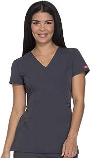 Dickies Xtreme Stretch 85956 Women's Mock Wrap Solid Scrub Top