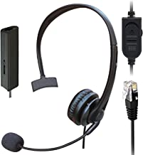 $29 » Phones Headset with Pro Noise Canceling Mic and Mute Switch RJ9 Telephone Headset Compatible with Polycom Plantronic Norte...