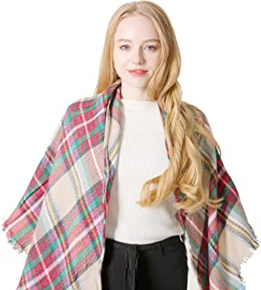 Women's Fall Winter Scarf Square Scarf Classic Long Shawl Wraps Warm Large Soft Scarves Plaid Wrap Shawl Scarves