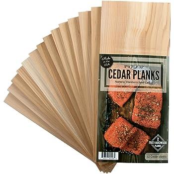 12 Cedar Grilling Planks for Salmon and More + 2 Hardwood Planks (Alder)